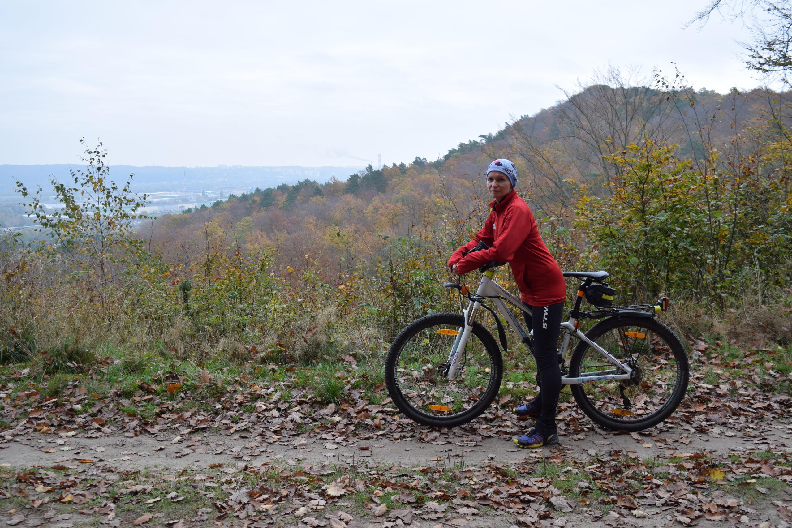 Wiolka na rowerze